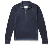 Garment-Dyed Loopback Cotton-Jersey Half-Zip Sweatshirt