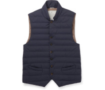 Quilted Nylon Down Gilet