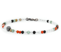 Agate And Silver Bracelet - Multi