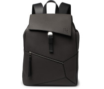 Puzzle Full-grain Leather Backpack