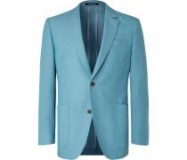Blue Wool-Hopsack Blazer