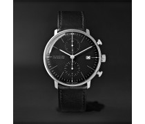 Max Bill Chronoscope 40mm Stainless Steel and Leather Watch, Ref. No. 027/4600.04