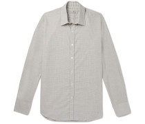 Puppytooth Cotton-poplin Shirt - Gray