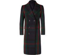 Double-breasted Tartan Wool Coat