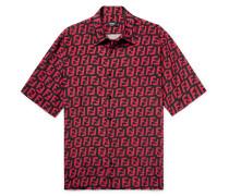 Logo-print Woven Shirt - Black