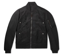 Thorson Ma-1 Nylon Bomber Jacket - Black