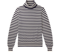 Riviera Striped Cashmere Rollneck Sweater