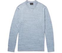 Slub Mélange Cotton-blend Sweater