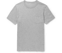 Slim-fit Garment-dyed Mélange Cotton-jersey T-shirt