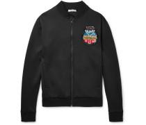 Appliquéd Jersey Track Jacket
