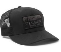 Logger Logo-appliquéd Cotton-twill And Mesh Baseball Cap - Black