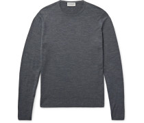 Lundy Slim-fit Merino Wool Sweater - Charcoal