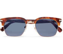 D-frame Gold-tone And Tortoiseshell Acetate Sunglasses - Tortoiseshell