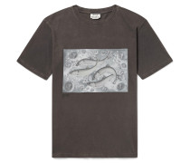 Bemabe Printed Cotton-jersey T-shirt