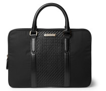 Pelle Tessuta Leather And Nylon Briefcase