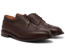 Fulton Olivvia Pebble-Grain Leather Longwing Brogues