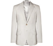 Pale-grey Seishin Slim-fit Wool And Mohair-blend Suit Jacket - Gray