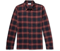 Slim-fit Checked Cotton Shirt - Red