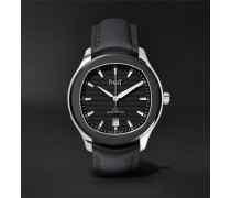 Limited Edition Polo S Automatic 42mm Stainless Steel And Leather Watch