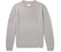 Sigfred Mélange Brushed-Wool Sweater