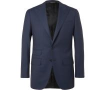 Navy Slim-fit Wool-twill Suit Jacket