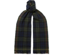 Checked Merino Wool Scarf