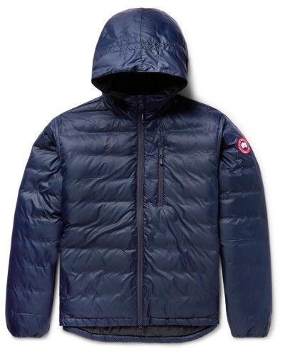 Lodge Packable Shell Hooded Down Jacket - Navy