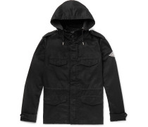 Cotton and Ramie-Blend Twill Hooded Field Jacket