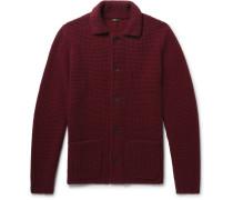 Slim-fit Waffle-knit Cashmere Cardigan