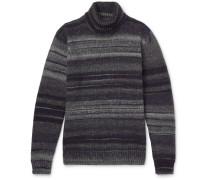 Striped Wool-blend Rollneck Sweater