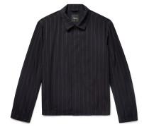 Pinstriped Wool-blend Jacket