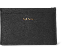 Textured-leather Cardholder - Black