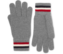 Striped Virgin Wool Gloves