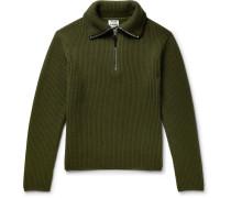 Wool-blend Half-zip Sweater