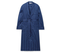 Lingfield Satin-Striped Cotton Robe