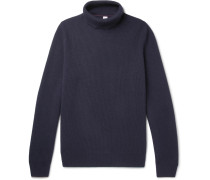 Ribbed Wool, Cashmere And Silk-blend Rollneck Sweater