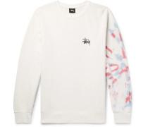 Printed Fleece-back Cotton-blend Jersey Sweatshirt - Off-white