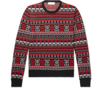 Slim-Fit Fair Isle Wool Sweater