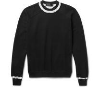Raw-edged Loopback Cotton-jersey Sweatshirt