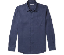 Caroubis Linen Shirt - Navy