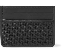 Pelle Tessuta Leather Cardholder - Black