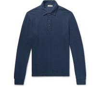 Double-faced Cotton Polo Shirt