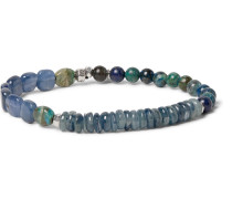 Turquoise, Kyanite And Sterling Silver Bracelet