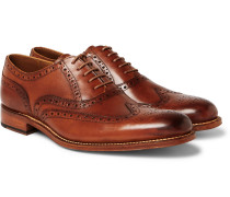 Dylan Burnished-leather Wingtip Brogues - Tan