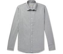 Slim-Fit Houndstooth Cotton Shirt