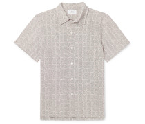 Printed Cotton-Seersucker Shirt