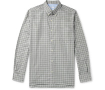 CS-1 Button-Down Collar Gingham Cotton-Twill Shirt