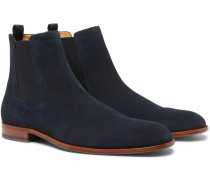 Cardiff Suede Chelsea Boots - Navy