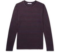 Refined Striped Slub Linen T-Shirt