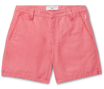 + 007 Thunderball Cotton and Linen-Blend Shorts